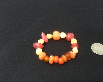 Sunset orange mix bracelet