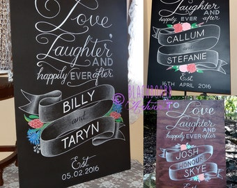 Love, Laughter & Happily Ever After Wedding Sign