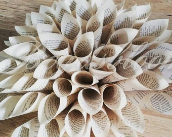 Handmade paper Dahlia