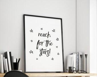 Reach for the stars gift family art print, fine art print