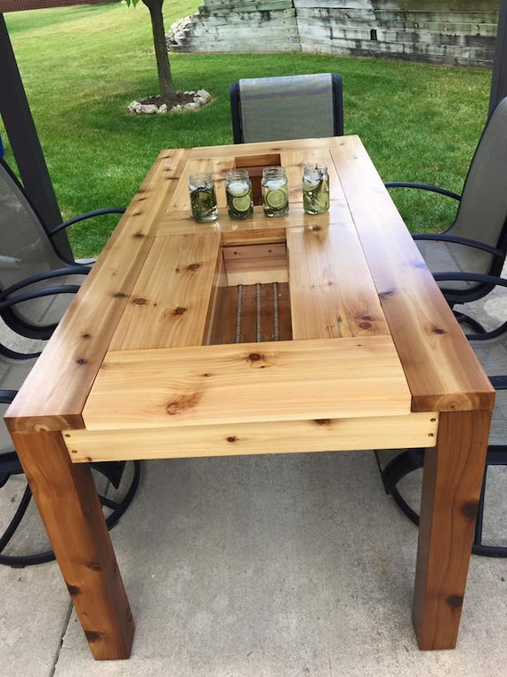 Patio Table with hidden drink coolers by TijuanaCidBeerTables