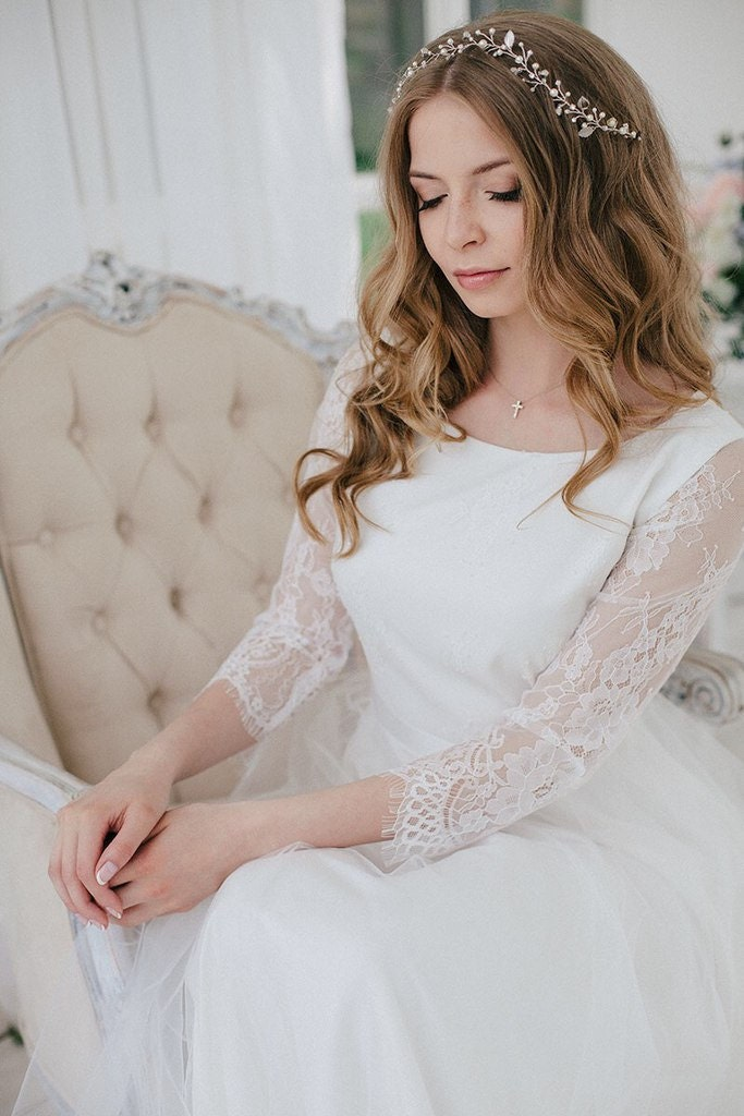 hochzeitskleid boho hochzeitskleid romantische hochzeit kleid. Black Bedroom Furniture Sets. Home Design Ideas