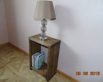 Handmade Rustic Wooden Bedside Table - Many Colours and Sizes!