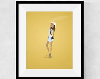 Camera Girl - 8 x 10 Print