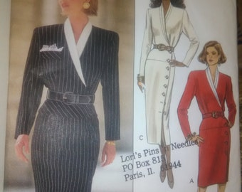Butterick 6512, EXPO, Dress with Side Front Button Closure