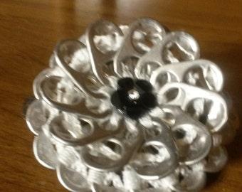 White Pop Tab Lotus Flower Barrette