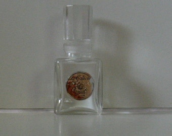 Vintage LE GALION Cut Glass Perfume Bottle with Crystal Cut Glass Stopper