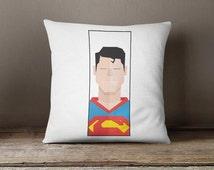 Superman Throw Pillow, avenger cushion cover, kids pillow case, superman decorative pillow case, home gift, superman cushion, kids cushion