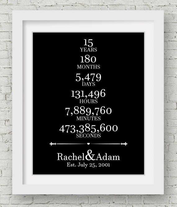 Wedding Gift 15 Years : 15 Year Anniversary Personalized Wedding Gifts For Couple Unique ...