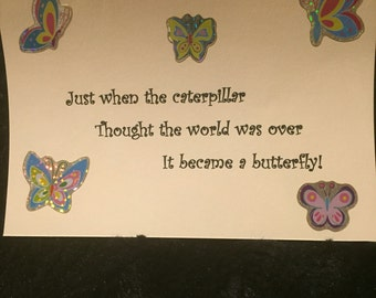 The catapillar butterfly