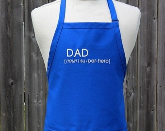 Personalized Apron, Gift for Dad, Superhero