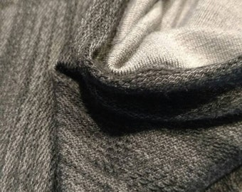 Black/Grey Sweat Shirt Knit