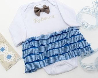 American Diner Skirt Keepsake Bodysuit Embroidery Name