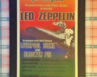 Led Zeppelin Concert Poster 12'x18' Reproduction // Rock Music // Jimmy Page // Robert Plant // Concert Poster