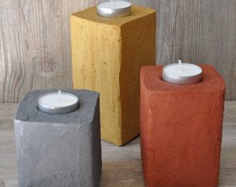 Tealight concrete set of3