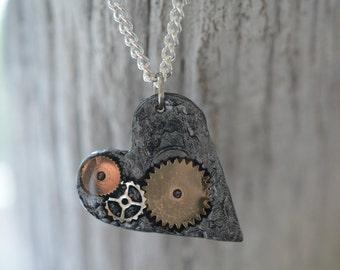 Mechanical Heart Pendant Necklace