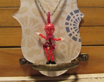 girl pendant with chain