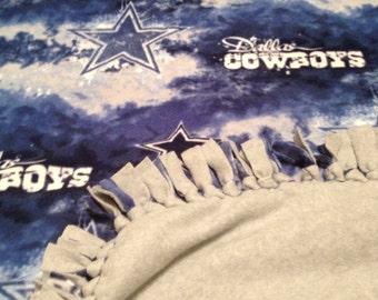 Handmade Cowboys Fleece Blanket