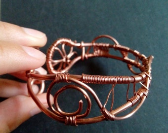 Wirewrapped ring cooper ring