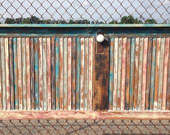 Hand Painted Lovred Door Headboard