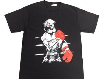 Popeye Black Men T-Shirt