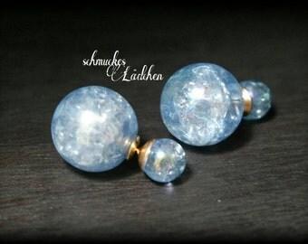Blue Pearl Earrings DoppelPerlen
