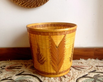 Corbeille panier osier / Pot de fleur / Paper basket
