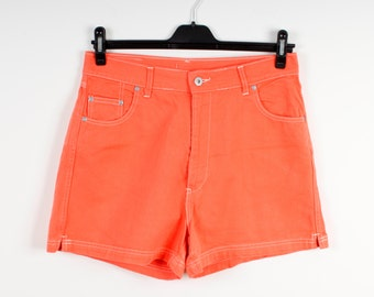 Orange Denim Shorts Plus Size Women Denim Shorts Country Western Denim Shorts