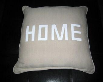 Decorator throw pillows with inspirational words.