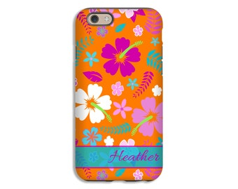 Hawaiian Flowers iPhone SE case, floral iPhone 6s Plus case, iphone 6s/6s Plus/6/6 Plus/5s/5 cases, personalized iphone cases