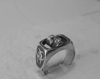 BioHazard Skull ring