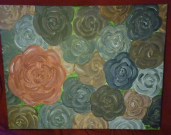 Pink and Brown Rustic Roses Collage