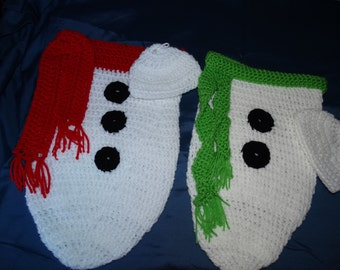 Snowman Baby Cocoons with cap