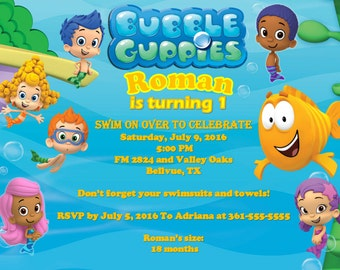 Bubble Guppies Party Invitation