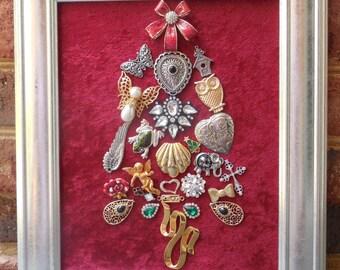 Bejeweled Christmas Tree Frame