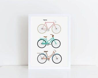 A4, A5 Bicycle art - Print - decor