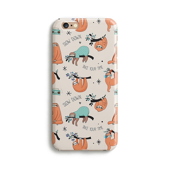 sloth iphone case sloth pattern iphone 7 samsung galaxy s7 by 6114