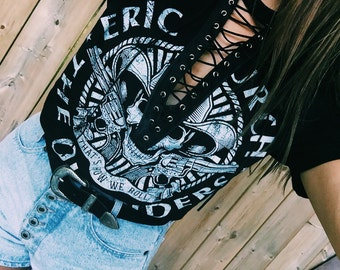 Eric Church Lace up Graphic Tee