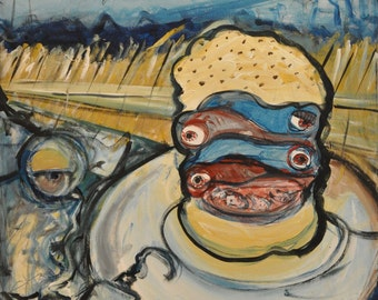 One-Eyed Fish Sandwich by the Sea