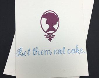 Marie Antoinette Let Them Eat Cake Birthday - Handmade Greeting Card