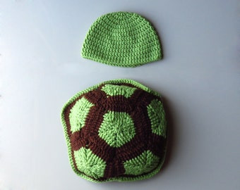 Baby Turtle Knit Photo Prop