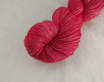 Sock Yarn - Candy Apple Colorway -  Merino Wool, Nylon Blend - Hand Dyed - Knit - Crochet - Fingering Weight