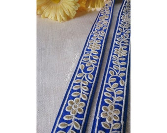 Royal Blue Embroidered Gathra