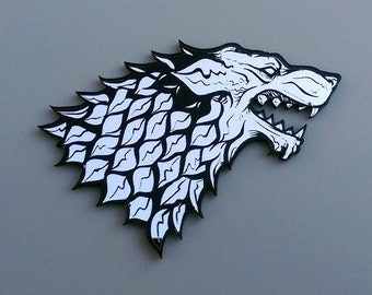 Large Game of Thrones inspired sigils. House Stark Dire Wolf, Targaryan Dragon, and more!