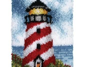 Wonderart Latch hook Kit 15X20-Lighthouse