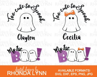 Halloween SVG, Too Cute to Spook svg, My 1st Boo svg, dxf, eps, jpg,png, Baby Halloween SVG, Baby Halloween Patterns, Halloween Download