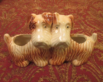 ON SALE! - Double Scottish terrier planter