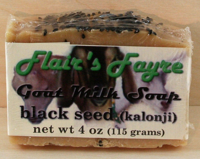 Featured listing image: black seed goat milk soap