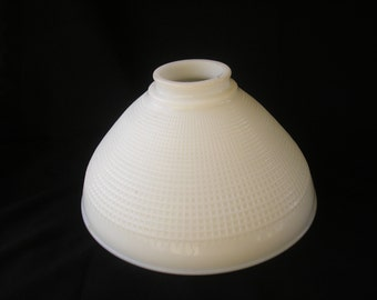 milk glass shade vintage art deco glass disffuser large glass shade replacement vintage lighting mid century