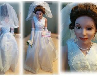 Limited Edition  Ashton Drake Galleries  Camellia Bride Porcelain Bride Doll